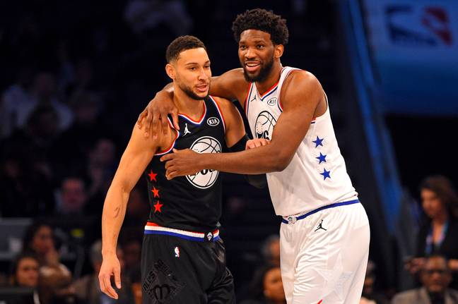 Ben Simmons and Joel Embiid. Credit: PA