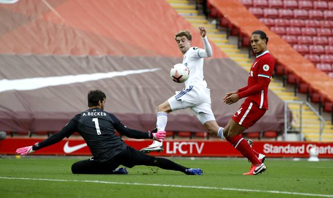 Bamford was allowed in by Van Dijk to equalise. Image: PA Images