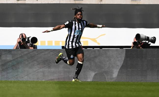 Newcastle's Allan Saint-Maximin is a doubt for Saturday's game