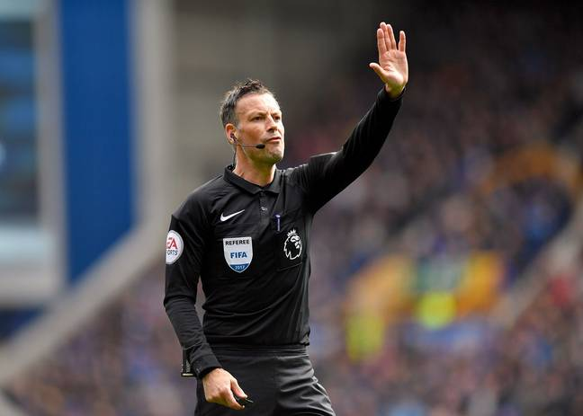 Clattenburg in action. Image: PA