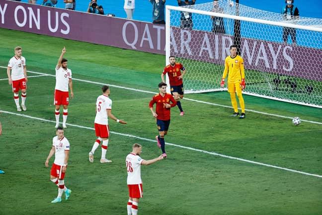 Morata did score against Poland. Image: PA Images
