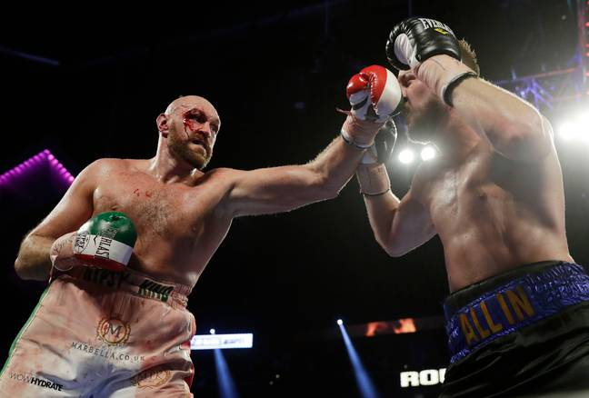 Fury was noticeably leaner against Otto Wallin in September. (Image Credit: PA)