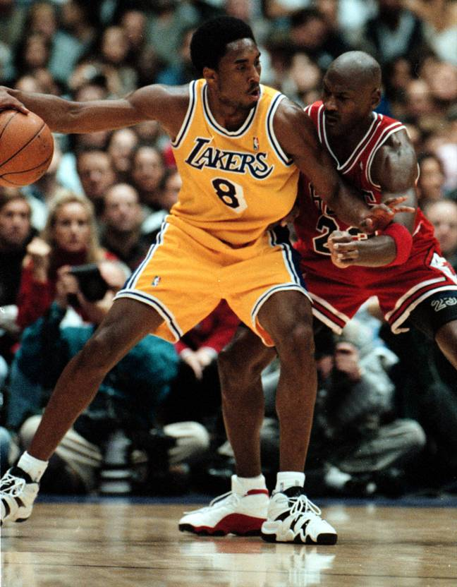 Michael Jordan guards Kobe Bryant. Credit: PA