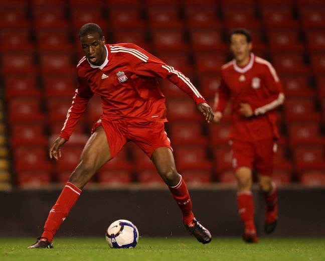 Ngoo during his time with Liverpool. Image: PA Images