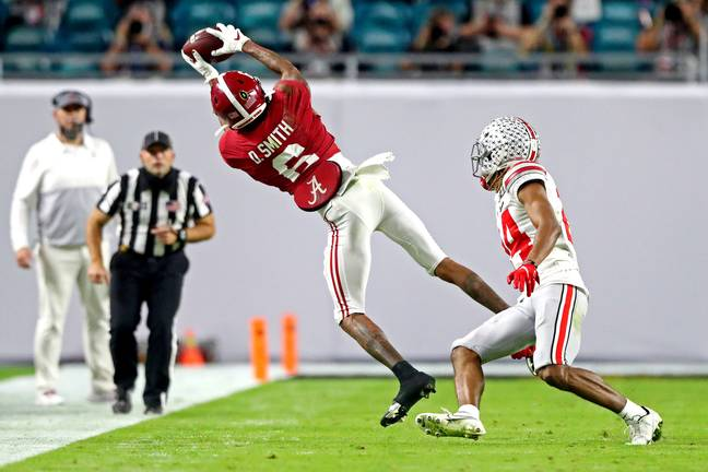 Alabama wide receiver DeVonta Smith was the star of the show. Credit: PA