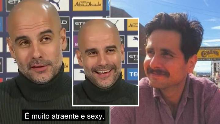 Pep Guardiola Tells Reporter His Moustache Is 'Sexy' In Bizarre Press Conference Exchange