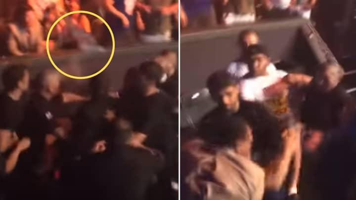 The Time Nick Diaz Threw A Drink At Khabib Nurmagomedov And Started A Huge Brawl