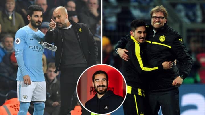 Ilkay Gundogan Reveals What It's Like To Play For Pep Guardiola And Jurgen Klopp