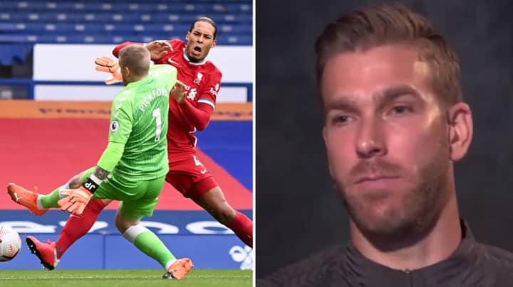 Liverpool Goalkeeper Adrian Has His Say On Jordan Pickford Challenge