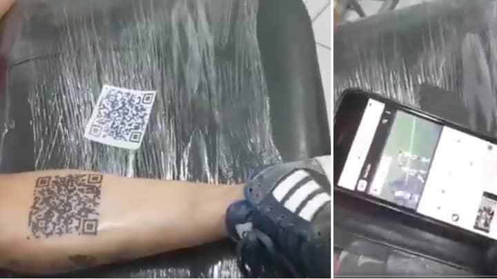 River Plate Fan Gets QR Code Tattoo That Shows Copa Libertadores Final Goals When Scanned