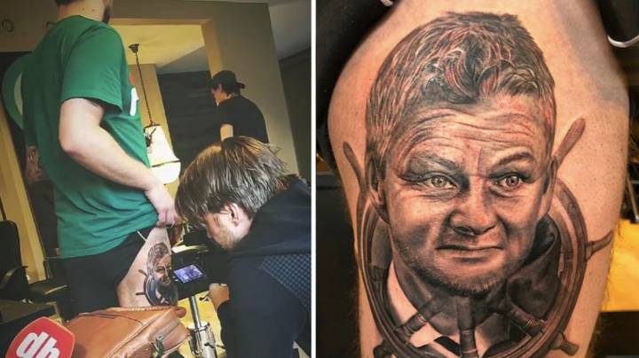 """Manchester United Fan Literally Gets """"Ole's At The Wheel"""" Tattoo"""