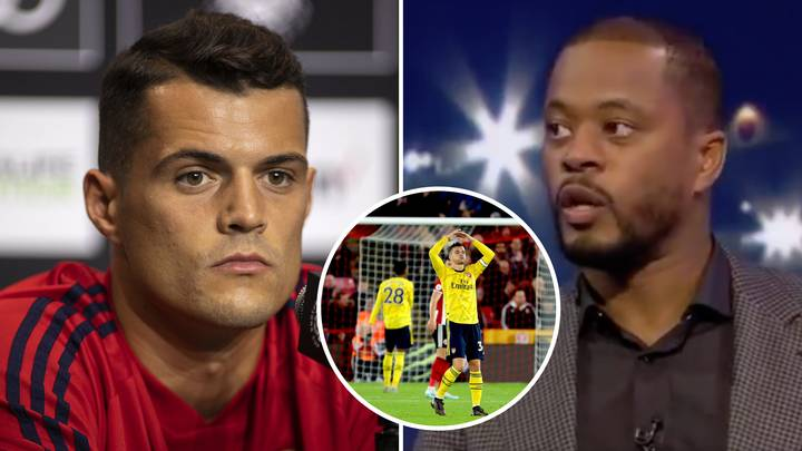 Granit Xhaka Hits Out At Patrice Evra Over 'Bullsh*t' Comments Made After Arsenal's Defeat