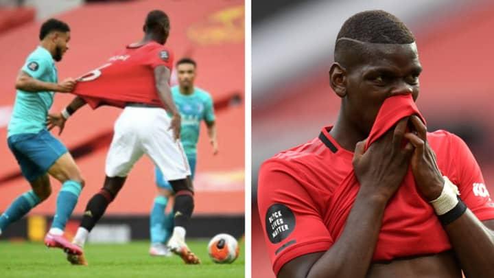 Paul Pogba Trolls Bournemouth Striker Josh King For Trying To Take His Shirt During Game