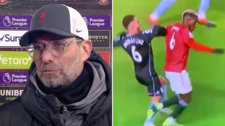 Jurgen Klopp Attacks Man Utd's Penalty Record After Liverpool Are Denied Two Vs Southampton