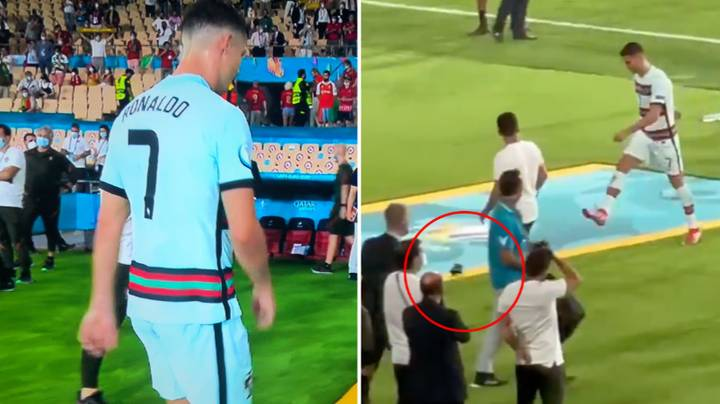Fan Footage Shows Cristiano Ronaldo Kicking Captain's Armband After Belgium Defeat