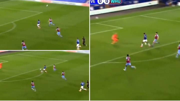 Dominic Calvert-Lewin Scores Superb Goal For Everton Against West Ham In Carabao Cup