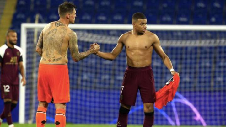 Liverpool Fans Think Kylian Mbappe Is Anfield Bound After He Swaps Shirts With Martin Skrtel