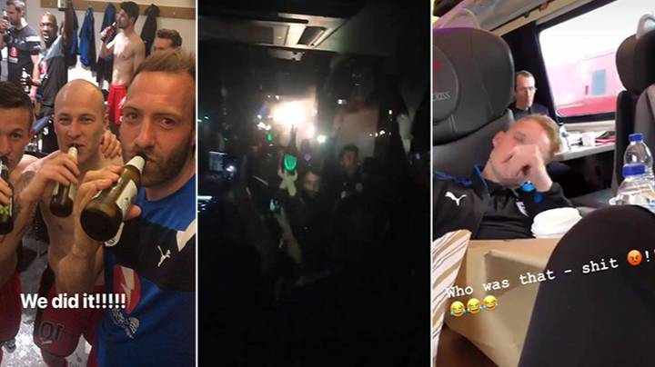 Huddersfield Delay Trip Back North In Order To Celebrate Staying Up