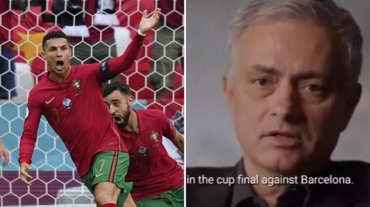 Jose Mourinho Explaining The Moment Cristiano Ronaldo Evolved Into A Centre Forward Is Brilliant