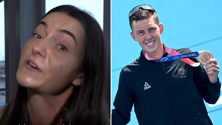 Ex-Girlfriend Sends A Very Awkward Message To Olympic Medal Winner In TV Interview