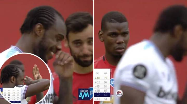 Paul Pogba Mocked By Michail Antonio And Bruno Fernandes After Handball