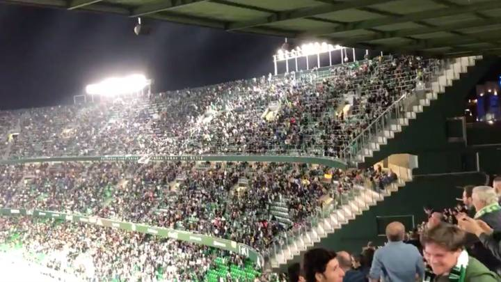 Real Betis Fans Applaud And Chant 'Messi, Messi, Messi' During Standing Ovation