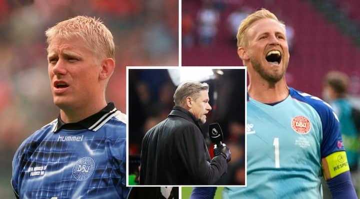 Denmark Legend Peter Schmeichel Joins Son Kasper In Taunting England Ahead Of Euro 2020 Semi-Final