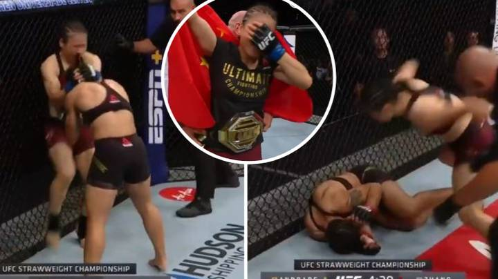 Weili Zhang Becomes China's First UFC Champion Beating Jessica Andrade In 52 Seconds