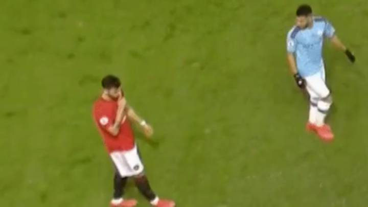 Bruno Fernandes Shushed Pep Guardiola After Being Substituted In Manchester Derby