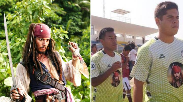 Peru's Pirate FC Play With Jack Sparrow On The Front Of Their Shirts