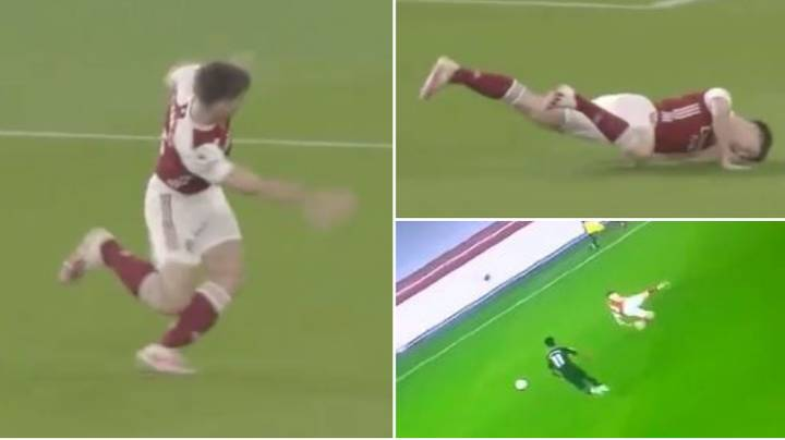 """Kieran Tierney Hilariously """"Malfunctioned"""" As He Produced Embarrassing Moment During Aston Villa Defeat"""