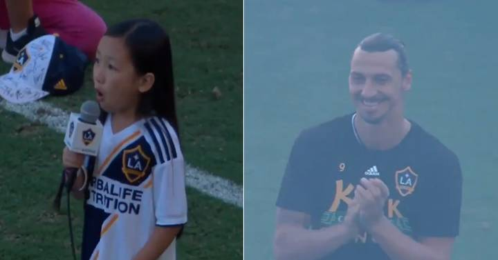 7-Year-Old Girl Delivers Incredible National Anthem Performance At LA Galaxy's Stadium