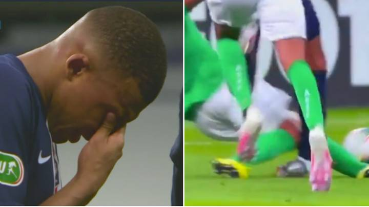 Kylian Mbappe Leaves Field In Tears After Suffering Horrific Ankle Injury During Paris Saint-Germain Vs. Saint Etienne