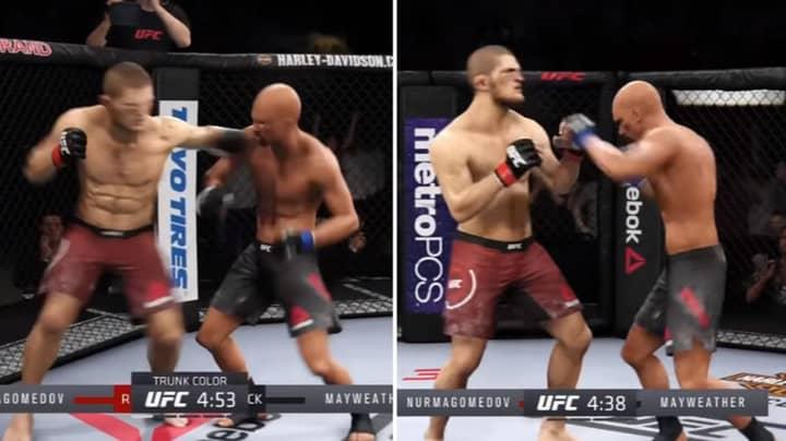 Gamer Simulates Khabib Nurmagomedov Vs Floyd Mayweather UFC Fight