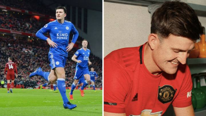 Harry Maguire Is Already Trolling Liverpool On His First Day As A Manchester United Player