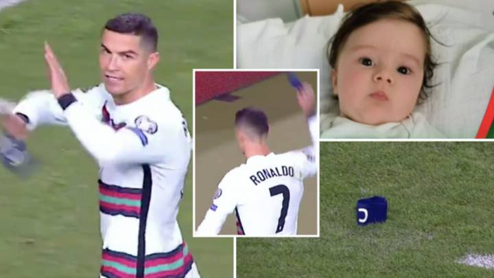 The Captain's Armband Cristiano Ronaldo Threw On The Turf Is Being Auctioned Off For Six-Month Old Baby's Treatment