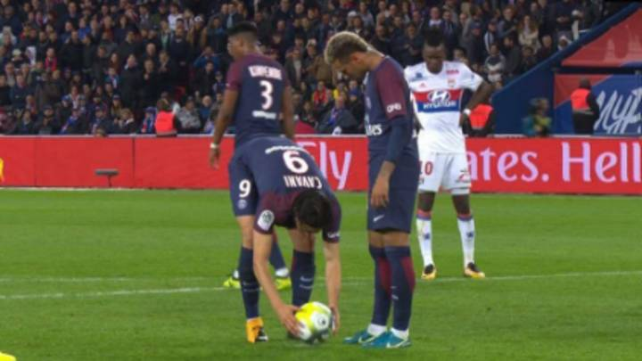 WATCH: Neymar And Edinson Cavani Argue Over PSG Penalty