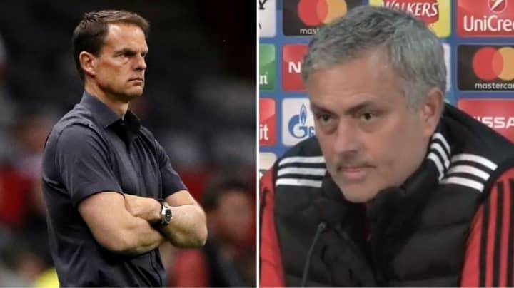 Jose Mourinho Once Brutally Described Frank De Boer As Worst Premier League Manager Ever