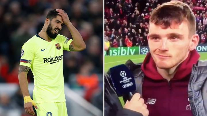 Andrew Robertson Had The Last Laugh After Luis Suarez Injured Him