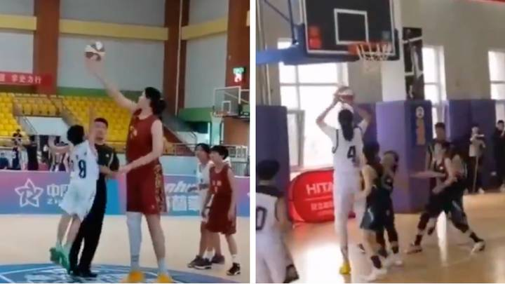 7-Foot-4-Inch 14-Year-Old Basketball Player Sends The Internet into Meltdown