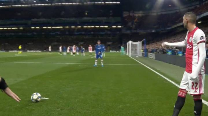 Hakim Ziyech Scores Free-Kick From A Ridiculous Angle Against Chelsea
