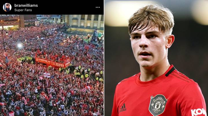Brandon Williams Accidentally Posted A Picture Of Liverpool's Champions League Parade In Celebration