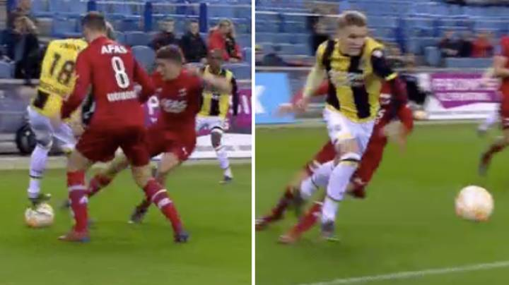 Martin Odegaard Stands On Top Of The Ball, Pulls Off 'Trick Of The Season'