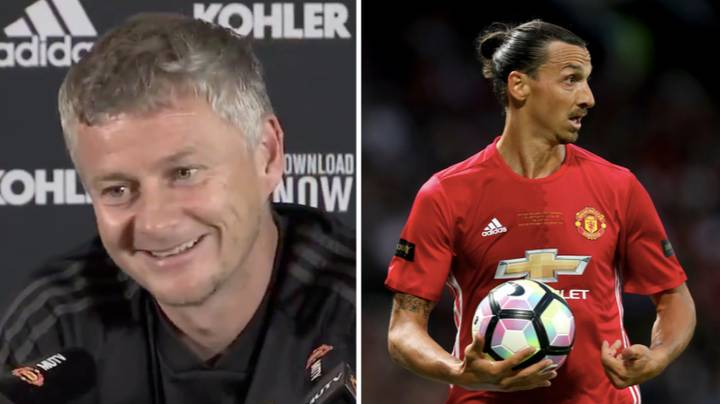"""Ole Gunnar Solskjaer Invites Zlatan Ibrahimovic To Contact Him """"If He's Serious"""" About Return"""