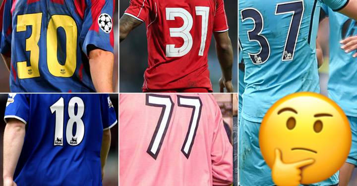 QUIZ: Can You Name The Top Football Player By Their Original Shirt Number?