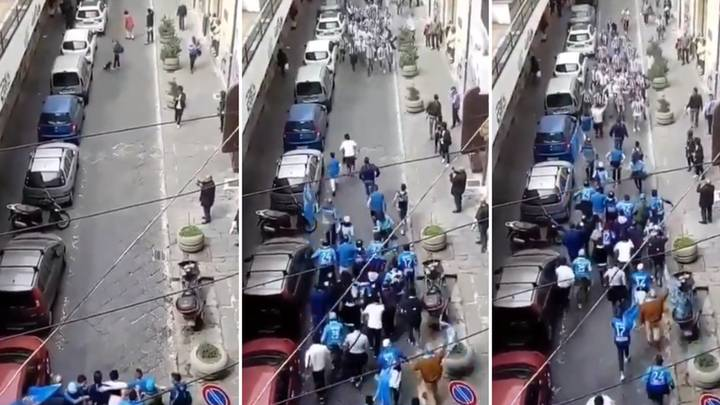 What Happened When Napoli And Juventus Fans Met In Street Ahead Of Crunch Clash