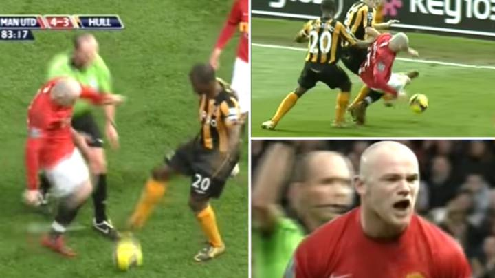 A Skinhead Prime Wayne Rooney Contesting A Drop-Ball Against Hull City Is Genuinely Terrifying