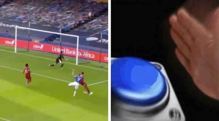 Richarlison's Shot For Everton Vs Liverpool Hit Row Z - The Artificial Crowd Noise Went Wild