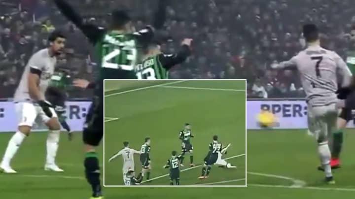 Cristiano Ronaldo Smashes The Ball As Hard As Physically Possible At Sami Khedira's Head