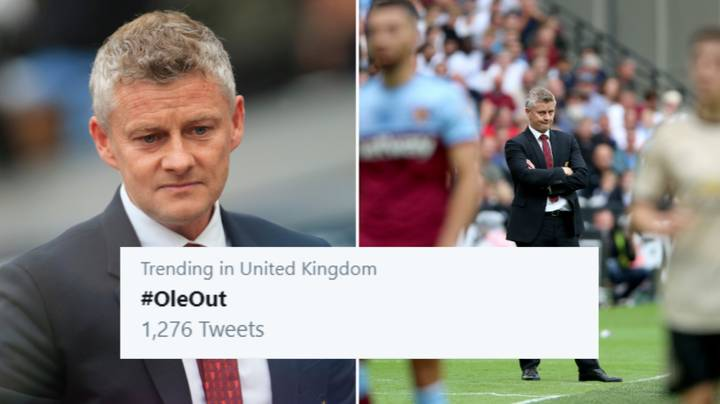 #OleOut Is Trending On Twitter As Manchester United Lose To West Ham United